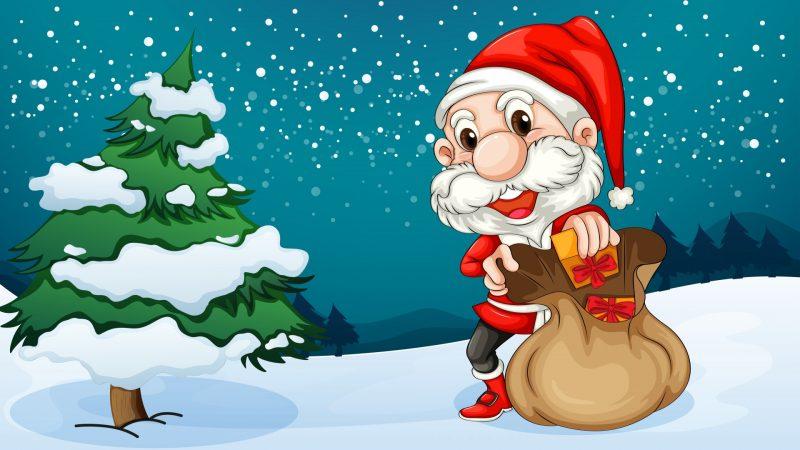 Дед Мороз с падарками