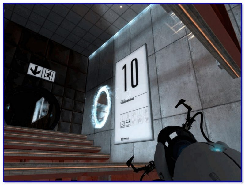 Скриншот из игры Portal
