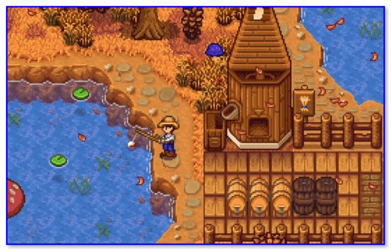 Stardew Valley — скриншот 2 (ловись рыбка, большая и маленькая)