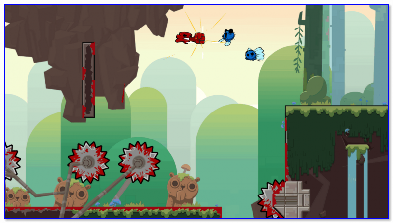 Super Meat Boy — скриншот из игры