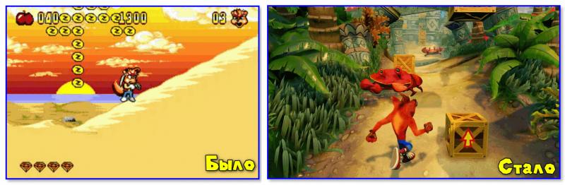 Crash Bandicoot n. Sane Trilogy (справа)