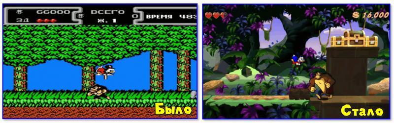 DuckTales Remastered (справа)
