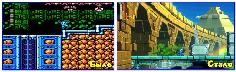 Mega Man 11 (справа)