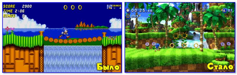 Sonic Generations (справа)