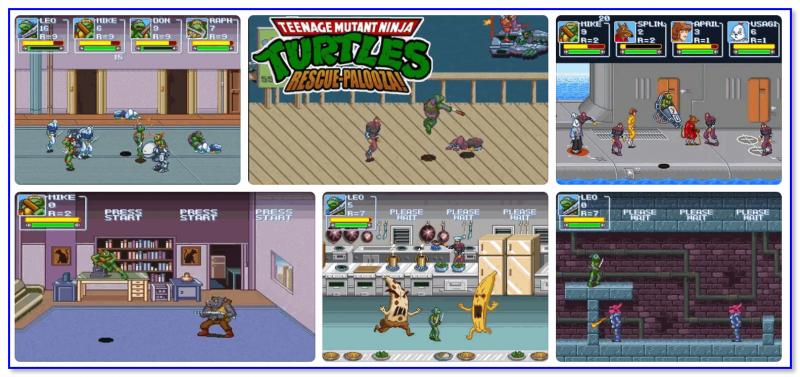 Teenage Mutant Ninja Turtles Rescue-Palooza — скриншоты