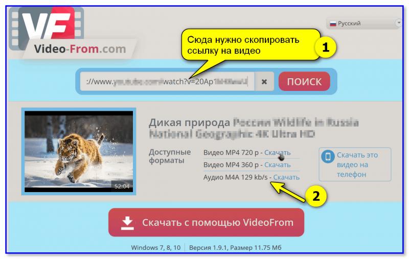 video-from.com — пример использования сервиса