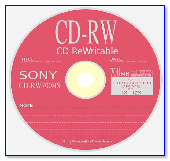 CD-RW — компакт диск