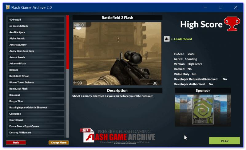 Раздел со стрелялками (есть даже Battlefield 2)