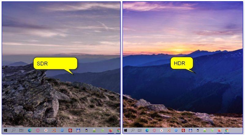 Разница в картинке (еще один пример): SDR VS HDR