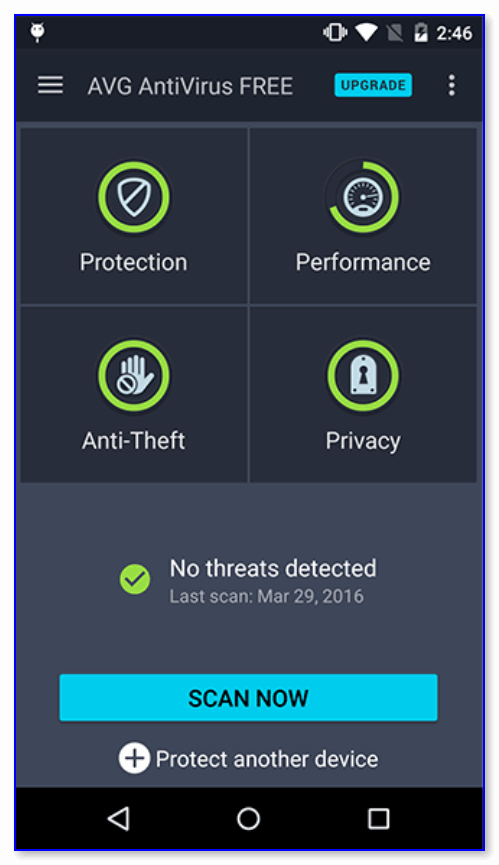 AVG AntiVirus — с защитой все в порядке