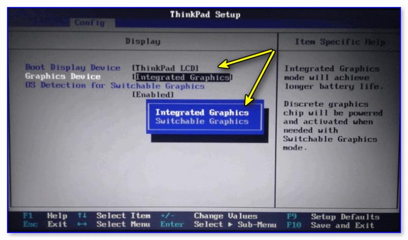 Integrated Graphics // ноутбук Lenovo