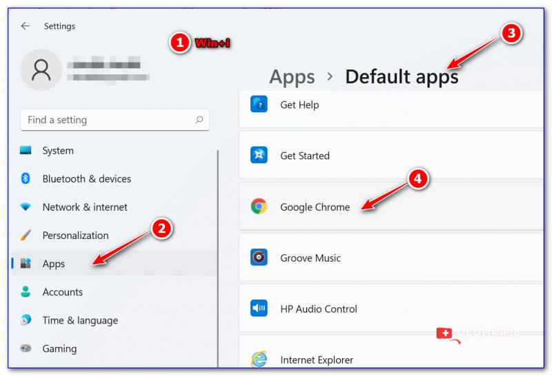 Default Apps (приложения по умолчанию) - Windows 11