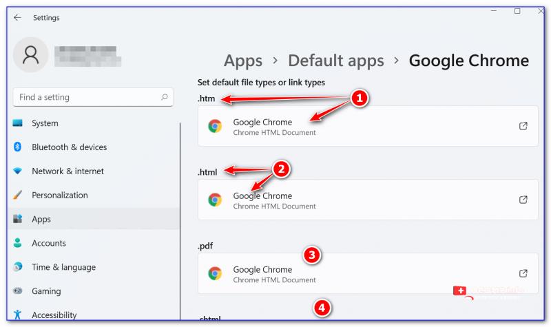 Для каждого формата (htm, html и пр.) задаем браузер