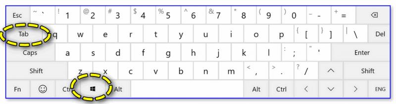 Клавиатура - клавиша Win и Tab